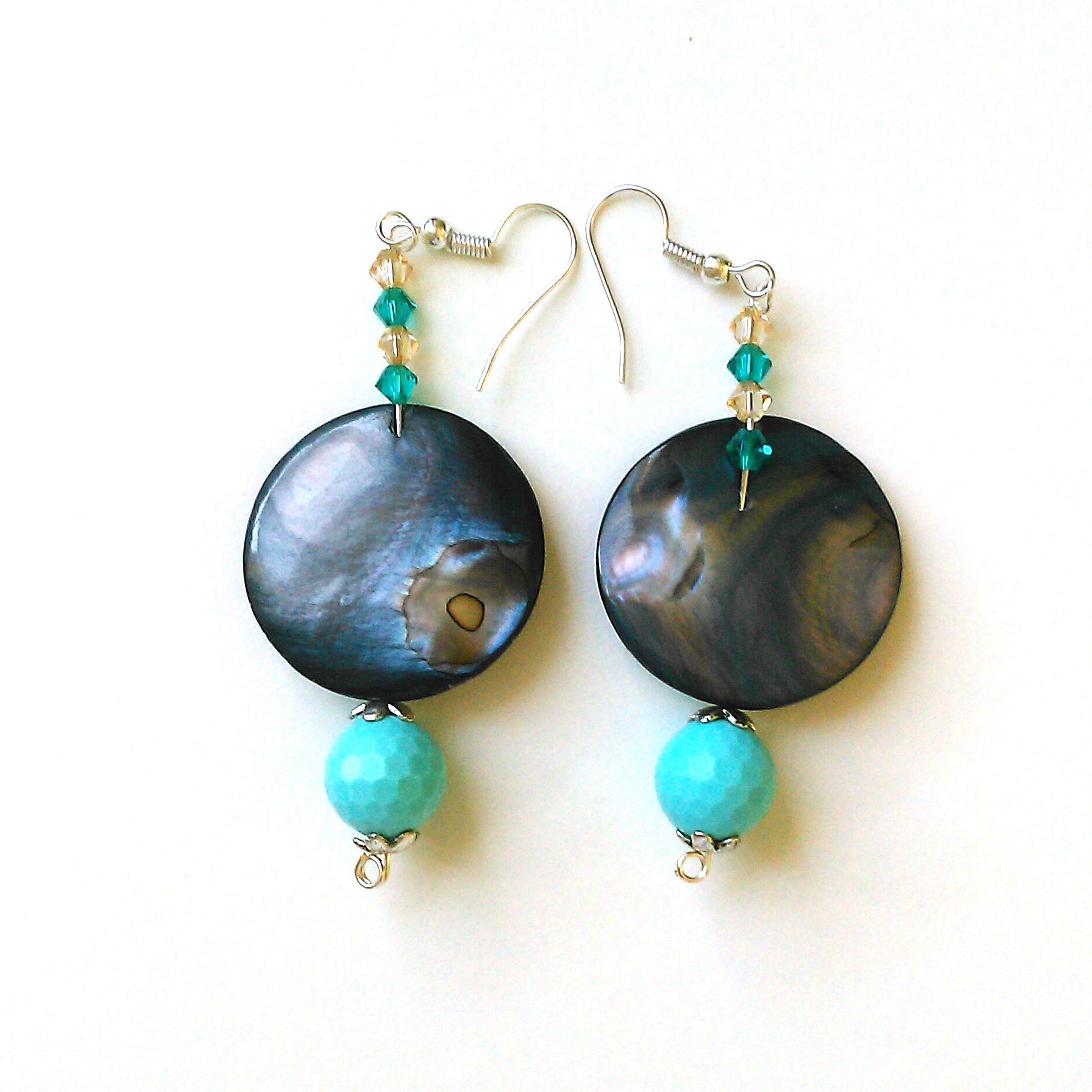 78 orecchini madreperla blu pietre dure creazioni for Orecchini con pietre dure fai da te